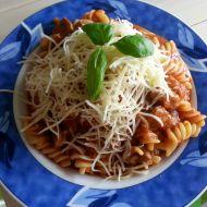 Těstoviny s vepřovým masem a rajčaty recept