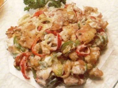 Salát z rybího filé s papriku  dia 6,5 S