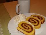 Piškotový závin/roláda s domácí marmeládou recept