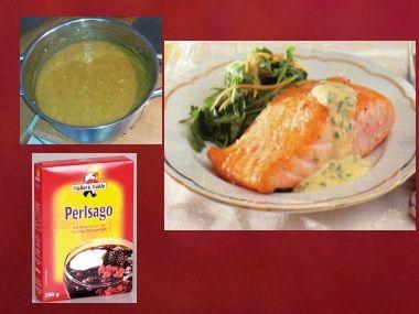 Sváteční oběd 43  Ságová polévka a Losos