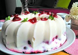 Zmrzlinový bábovkový dortík s ovocem II. recept