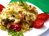 Těstoviny s houbami a paprikami recept