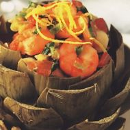 Artyčoky s krevetami recept
