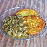 Kuřecí srdíčka s bramboráčky recept