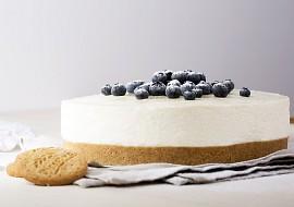 Nepečený cheesecake s borůvkami recept