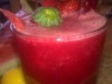 Ledový mix s melounu, černé ředkve a jahod recept