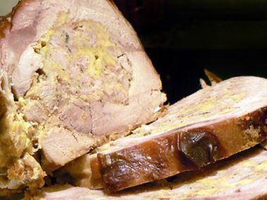 Telecí roláda s bramborovo-špenátovým pyré