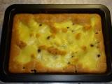 Ovocný koláč s vanilkovou polevou recept