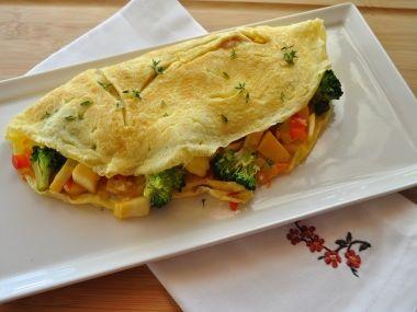 Velká plněná slaná omeleta  recept tety Běty