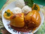 Papriky s houbovou nádivkou recept