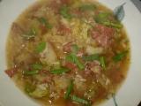 Kapustovo-brokolicová polévka s rýží a uzeninkou recept ...