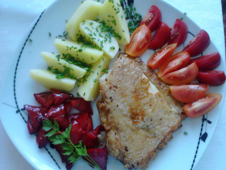 Platýs na přepuštěném másle s kapií recept