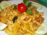 Těstoviny s masovo  zeleninovou směsí recept
