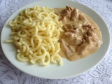 Kuřecí nudličky z pánve se smetanou recept