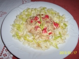 Těstoviny s krabími tyčinkami recept
