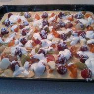 Nekynutý ovocný koláč recept
