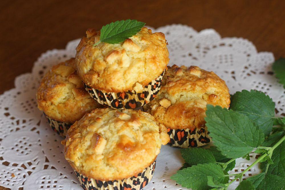 Likérové muffiny s bílou čokoládou recept