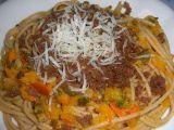 Špagety s dýní a opraženým chlebem recept