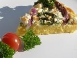 Polentový koláč s mangoldem a cibulí recept
