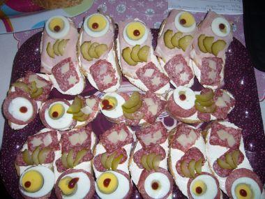 Půlnoční obložené chlebíčky