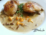 Kuřecí na liškách a tymiánu recept