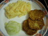 Cuketove placky a stouchane brambory recept