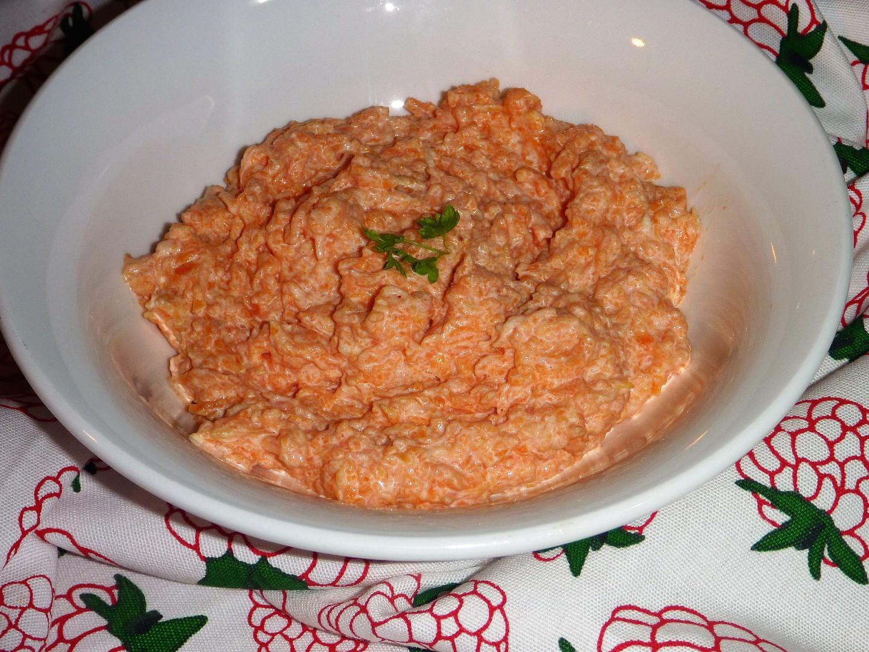 Jednoduchá pomazánka z vařené mrkve recept