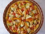 Čtyřbarevná pizza recept
