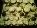 Plněné žampiony s brokolicí recept
