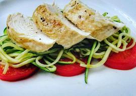 Kuřecí prsa a cuketové špagety recept