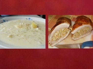 Oběd 59  Zelňačka a Plněný vepřový bůček