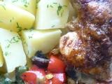 Kuřecí čtvrtky s omáčkou Sambal Manis a zeleninkou recept ...