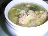 Kapustová (kelová) polévka s masovými knedlíčkami recept ...