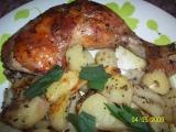 Pečené kuře po řecku recept