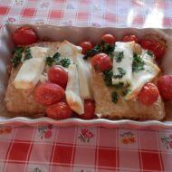 Zapečené rybí filé s rajčaty recept