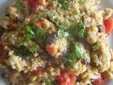 Jáhly s houbami a rajčaty recept