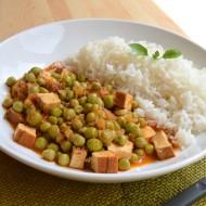 Tofu v hráškovo-paprikové omáčce s rýží recept