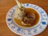 Přírodní vepřová kýta a houbový kuskus recept