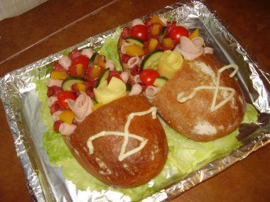 Slaný dort  pantoflíčky