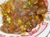 Kuřecí srdíčka se zeleninou recept