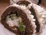 Čokoládový tunel s kiwi a šlehačkou recept