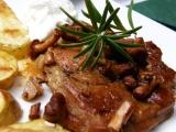 Krkovička s liškami recept