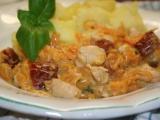Smetanová omáčka se sušenými rajčaty a kuřecím masem recept ...