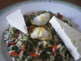Řecké spanakorizo-špenát s rýží recept