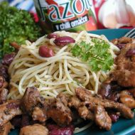 Vepřový gyros s fazolemi recept