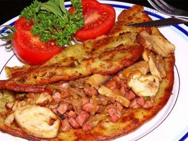 Recept Houbová omeleta