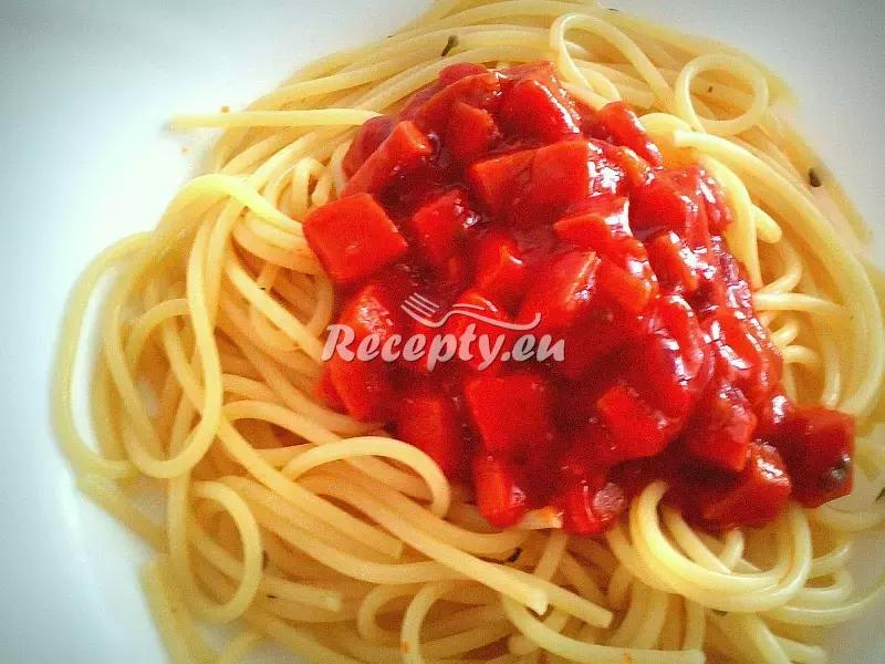 Chalupářské špagety recept  těstoviny