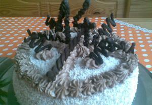 Jablkový koláč s kakaovým krémem