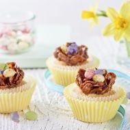 Cupcakes s čokoládovými hnízdy recept