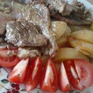 Vepřová pánev s bramborem recept